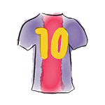 drawing barça jersey number 10