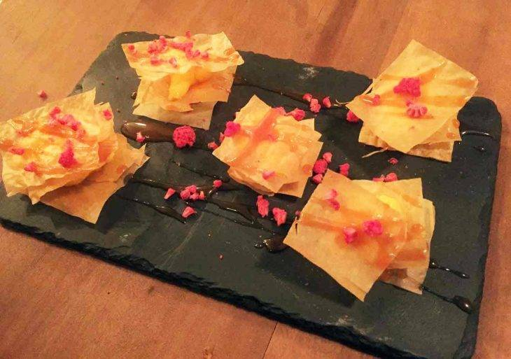the sopa boba dessert mille feuilles