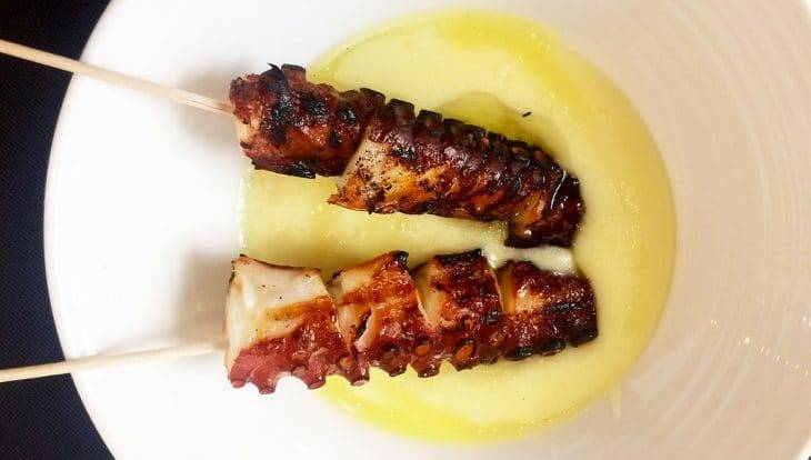 La Tere Gastrobar squid skewers