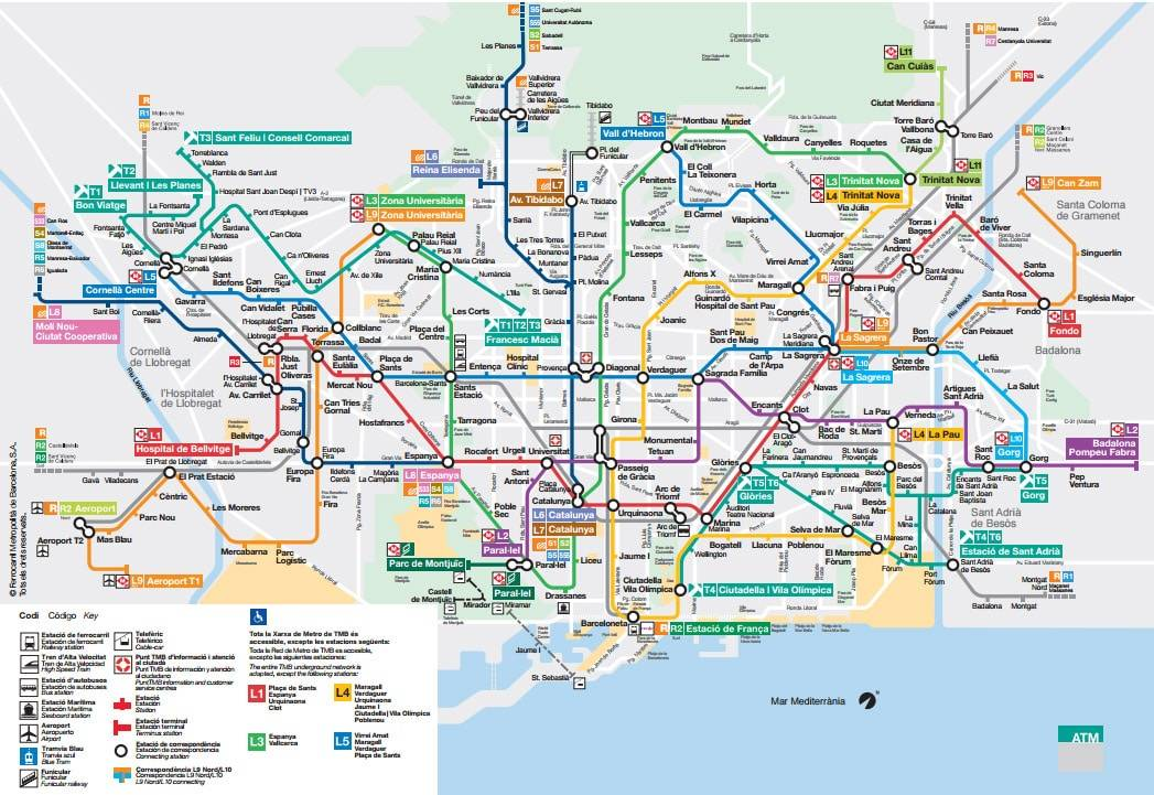 Barcelona Metro Map Timetable And Useful Information